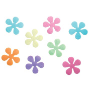 InterDesign Floral Non-Slip Safety Treads for Shower/ Bathtub, 10cm , Set of 8, Assorted Rainbow Colours