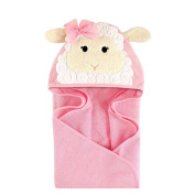Hudson Baby Animal Hooded Towel, Little Lamb, 80cm x 80cm