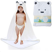 Baby Hooded Towel - 100% Cotton Keeps Baby Dry and Warm - Ultra Soft, Thick and Absorbent Unisex Bath Towel - Best for Babies, Newborns, Infants & Toddler - Perfect Baby Shower Gift for Boys & Girls