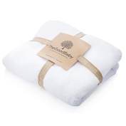 100% Organic Turkish Cotton Hooded Baby Bath Towel by The Good Baby