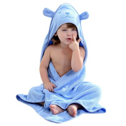 Baby Hooded Towel with Bear Ear- Soft and Thick 100% Organic Cotton Bath Set for Girls, Boys, Infant ad Toddler, Good Choice for Baby Shower Gift