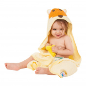 Baby Darling Soft Fox Hooded Bath Towel, Natural Cotton, Large size for Infant and Toddler, for Boy and Girl