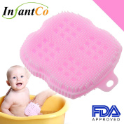 InfantCo Anti-bacterial FDA-approved Ultra Soft Baby Bath Silicone Scrubber Sponge, Foam Rub Microwave or Boil Water Sterilising