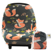Multi-use Baby Car Seat Cover Canopy and Nursing Cover Breathable Universal Fit, Unisex Stretchy 3- 1 Carseat