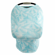 Baby Car Seat Canopy, Breastfeeding Cover, Stroller Sunshade, Nursing Scarf & Shopping Cart Cover By SimpleTots for Boys & Girls. Multi Use. Soft, Breathable and Stretchy Material