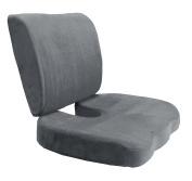 2pc Car Office Home Memory Foam Seat Chair Waist Lumbar Back Support Cushion Pillow