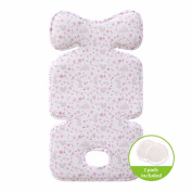 Bebenuvo Premium 3D Air Mesh Cool Seat Pad/Cushion/Liner for Stroller and Car Seat (Flower Garden) - Hand Made
