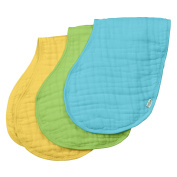 green sprouts Muslin Burp Cloths made from Organic Cotton,Aqua Set