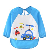 Cute Cartoon Unisex Infant Toddler Baby Waterproof Sleeved Bib, Baby Toddler Smock (6 Months-3 Years)