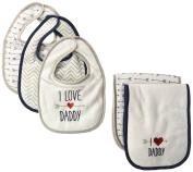 Luvable Friends Bib and Burp Cloth Set, Boys Love Daddy