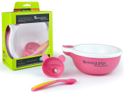 Baby Feeding Bowls with Spoon - With Pour in Hot water Funnel to Keep Food Warm by Mozzbi