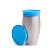 Munchkin Miracle Stainless Steel 360 Sippy Cup, Blue, 300ml