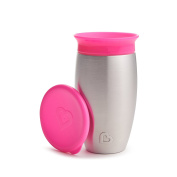 Munchkin Miracle Stainless Steel 360 Sippy Cup, Pink, 300ml