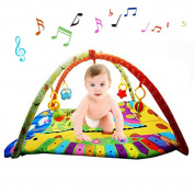 Anjojo Grow -With- Me Baby Infants Activity Play Gym Mat Baby Toys Accessories With Music Perfect For Lay,Play & Tummy Time