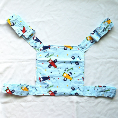 Sigzagor Baby Doll Carrier Mei Tai Sling Toy For Kids Children Toddler Front Back,Mini Carrier,Owl,Dot,Flower,Kaleidoscope (Plane)