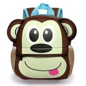 Hipiwe Little Kid Toddler Backpack Baby Boys Girls Kindergarten Pre School Bags Cute Neoprene Cartoon Backpacks for Children 1-5 Years Old