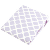 Kushies Baby Portable Play Pen Sheet, Lilac Lattice