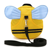 Hipiwe Baby Walking Safety Harness Reins Kid Toddler Strap Backpack Child Safety Harness Assistant with Leash Bee with Blue Wings