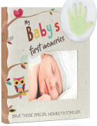 Uliels Baby Keepsake Set with Memory Book, Footprint, Box Frame & Hanging Frames. Ideal for Boys and Girls Baby Shower Gift