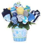 Baby bouquet made with baby clothes and accessories / Baby shower gift / Practical newborn gift for parents to be / New baby gift idea
