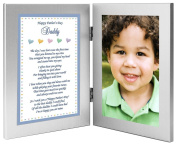 Gift for Daddy on Father's Day - Sweet Words for Dad from Son - Add Photo to Double Frame