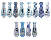 Monthly Baby Stickers Necktie Tie Boy Month Milestone Sticker Months in Motion
