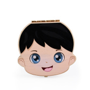 Anbaby Cute Personality Baby Teeth Box Save Wooden Boxes Deciduous Souvenir Box