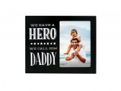 Pearhead Dad Sentiment Photo Plaque, Black