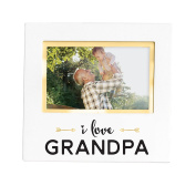 Pearhead Sentiment Keepsake Photo Frame, White I love Grandpa