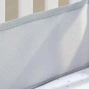Teeny4Baby Portable/Mini Crib Breathable Bumper Grey, Portable/Mini Crib Mesh Liner