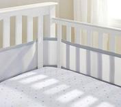 Teeny4Baby Breathable Crib Bumper Grey, Mesh Crib Liner
