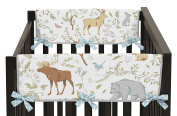 Baby Crib Side Rail Guard Wrap Covers Teething Protector for Woodland Animal Toile Girl or Boy Bedding Collection