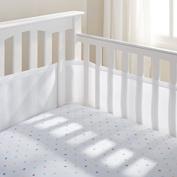 Teeny4Baby Breathable Crib Bumper White, Mesh Crib Liner