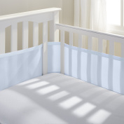BreathableBaby Breathable Mesh Crib Liner,Light Blue