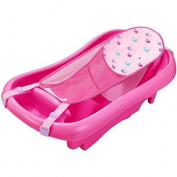 Comfort Deluxe Newborn to Toddler Tub with Sling - Pink The Tubs Deep Ergonomic Design Holds Baby Better For Bathing