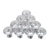 AMA(TM) 5PCS 30mm Diamond Crystal Glass Cupboard Wardrobe Cabinet Dresser Drawer Knob Door Pull Handle for Cabinet, Drawer, Chest, Bin, Dresser, Cupboard