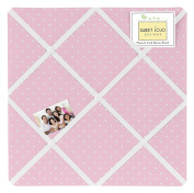 Pink Polka Dot Fabric Memory/Memo Photo Bulletin Board for Mod Dots Collection