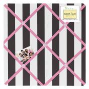 Pink, Black and White Stripe Paris Fabric Memory/Memo Photo Bulletin Board by Sweet Jojo Designs