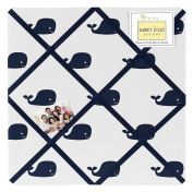 Blue Whale Collection Fabric Memory/Memo Photo Bulletin Board