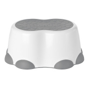 Bumbo Step Stool, Cool Grey, White