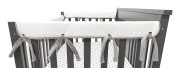 American Baby Company Heavenly Soft Chenille Reversible Rail Covers for Crib Sides, 2 Piece, Grey & White Narrow for Crib Rails Measuring up to 20cm Around!