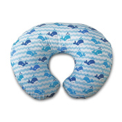 Boppy Nursing Pillow and Positioner, Whale Blue, 0-12 Months