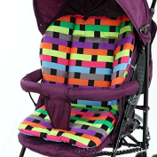 Miss.AJ Cushion Padding Liner Seat Pad Rainbow For Baby Stroller Pram