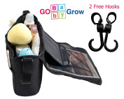Stroller Organiser – Baby Strollers Store Baby Nappies, Water Bottle, Kids Toys |Baby Shower Gifts with Free Stroller Hook