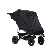 Mountain Buggy Duet Double Cover, Mesh, Black