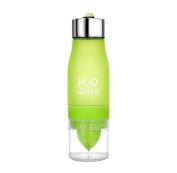 XXYsm Fruit Infuser Water Bottle Lemon Cup Water Bottle Drinking Bike Sport Bottle, BPA Free, 650ML for Drinking