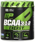MusclePharm BCAA 3:1:2 Energy Sport Supplement, Blue Raspberry, 30 Servings