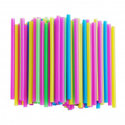 Assorted Bright Colours Jumbo Smoothie Straws, Pack of 100 Pieces