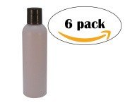 WolfMoon Botanicals 300ml Lavender Empty Refillable Plastic Bottle with Smooth Disc-Top Cap. Light Opaque HDPE Bullet Round,DIY Soaps, Shampoo, aromatherapy - Mfg. USA.