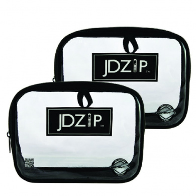 LollyZip Men's Quart Size Clear PVC Bag, TSA Compliant, Set of 2 (JD0.9lB)